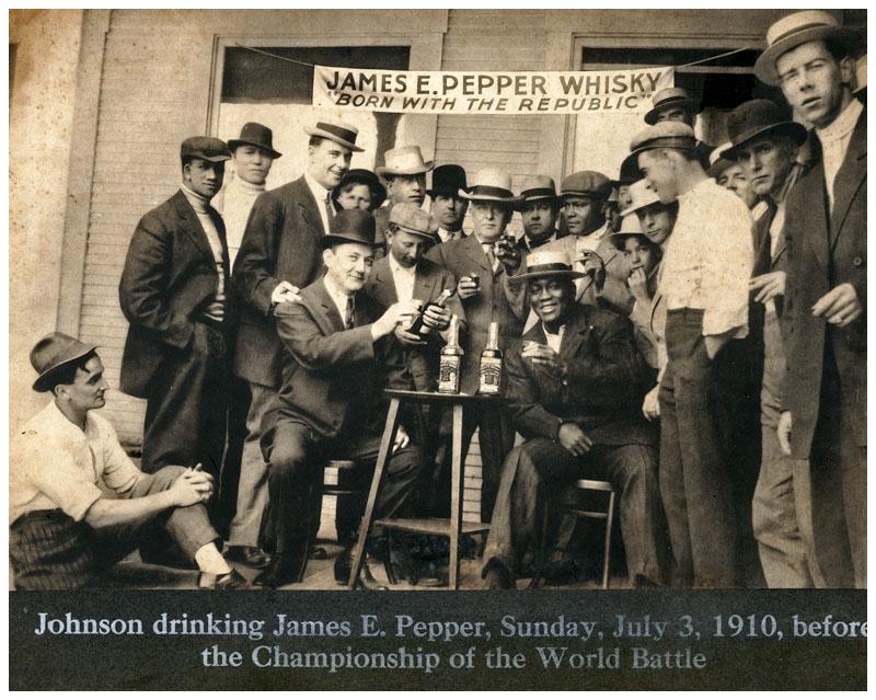 Jack Johnson James E Pepper whiskey