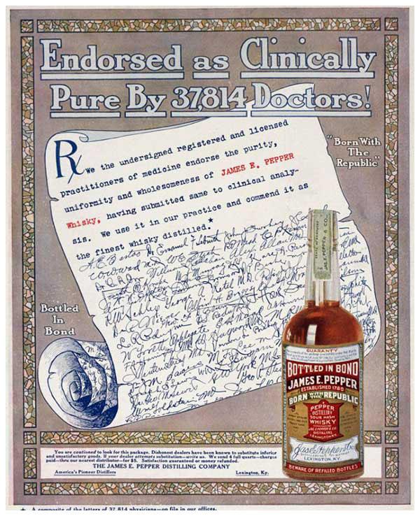 James E Pepper Rye Whiskey