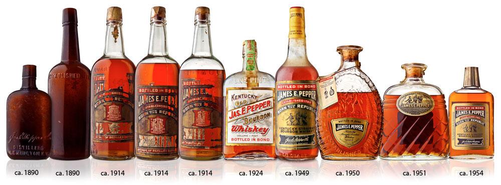 james e pepper whiskey old bottle