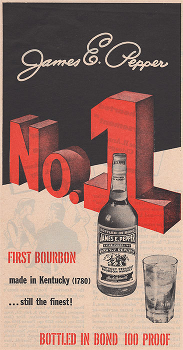 pepper number one bourbon ad